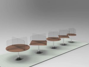 Circular & Squared Table Sneeze Guard by StaSafe 7
