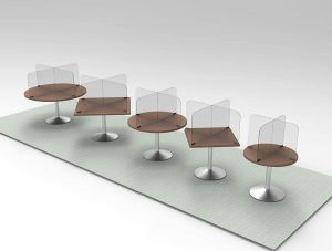 Circular & Squared Table Sneeze Guard by StaSafe 6