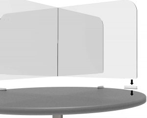Circular & Squared Table Sneeze Guard by StaSafe 5