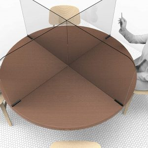 Circular & Squared Table Sneeze Guard by StaSafe 1