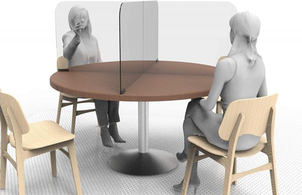 Circular & Squared Table Sneeze Guard by StaSafe 2