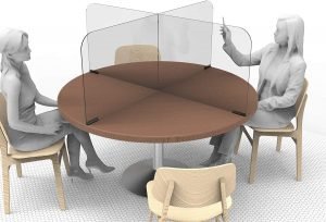 Circular & Squared Table Sneeze Guard by StaSafe 4