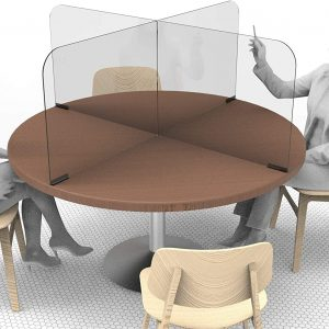 Circular & Squared Table Sneeze Guard by StaSafe