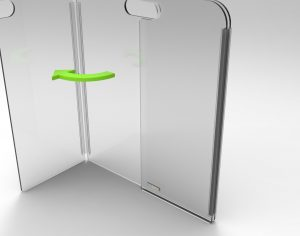 Portable Tri-Fold Sneeze Guard by StaSafe 3