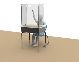 Portable Tri-Fold Sneeze Guard by StaSafe 1